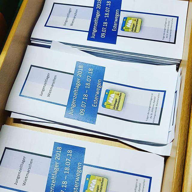Die Anmeldung für unser #jungenzeltlager liegen im Schriftenstand der Kirche in #wietmarschen aus  #Esterwegen